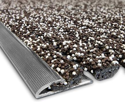 Cubre peldaños antideslizante – Alfombras de escaleras exteriores de PVC granulado, 100% impermeables con perfil de aluminio en 2 colores y medidas, marrón: Amazon.es: Bricolaje y herramientas