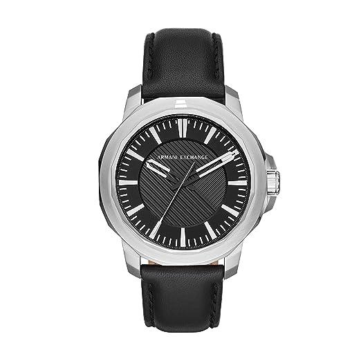 Armani Exchange Reloj Analogico para Hombre de Cuarzo con Correa en Cuero AX1902: Amazon.es: Relojes