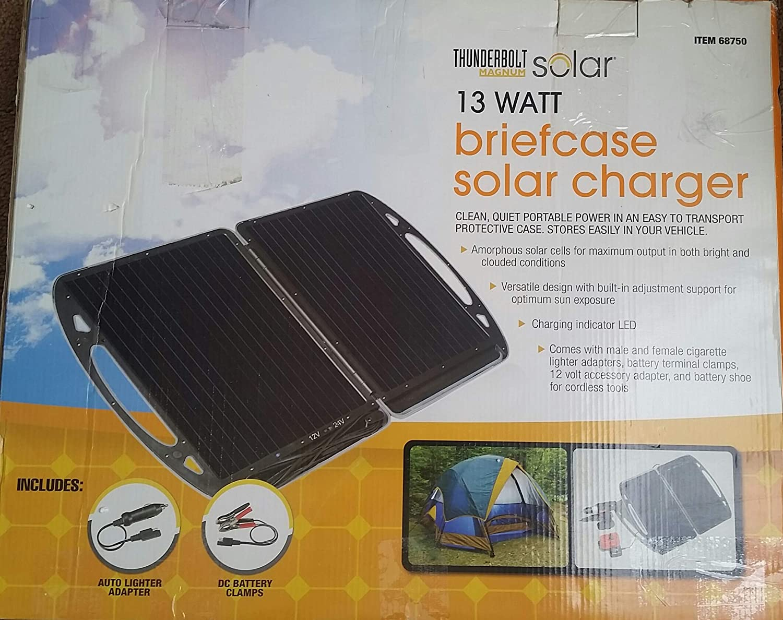 amazon com : thunderbolt magnum 13 watt briefcase solar charger : garden &  outdoor