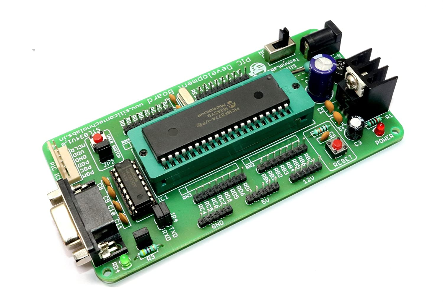 Buy Silicon Technolabs Pic Development Board Zif Socket Pickit 1 Circuit Diagram With On Pic16f877a Max232 Online At Low Prices In India