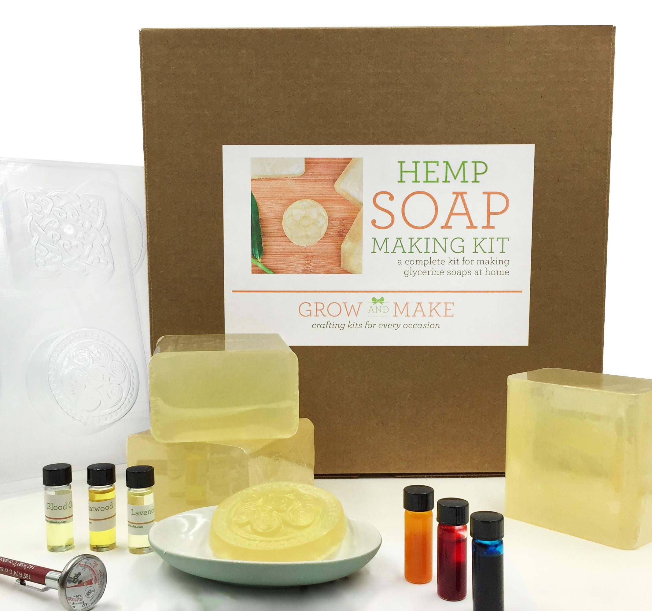 Grow and Make Deluxe DIY Hemp Soap Making Kit - Learn to Make Natural soap at Home!