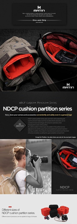 MATIN Cushion Partition Insert Padded Bag Case NDCP-40 Black for DSLR SLR Mirrorless Camera Lens