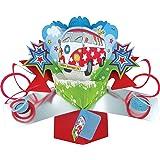 Second Nature POP092 - Tarjeta de felicitación, diseño de furgoneta en 3D