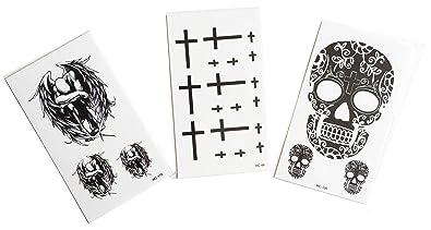 Strass Paillettes Lot De 3 Mini Tatouages Ephemeres Religion