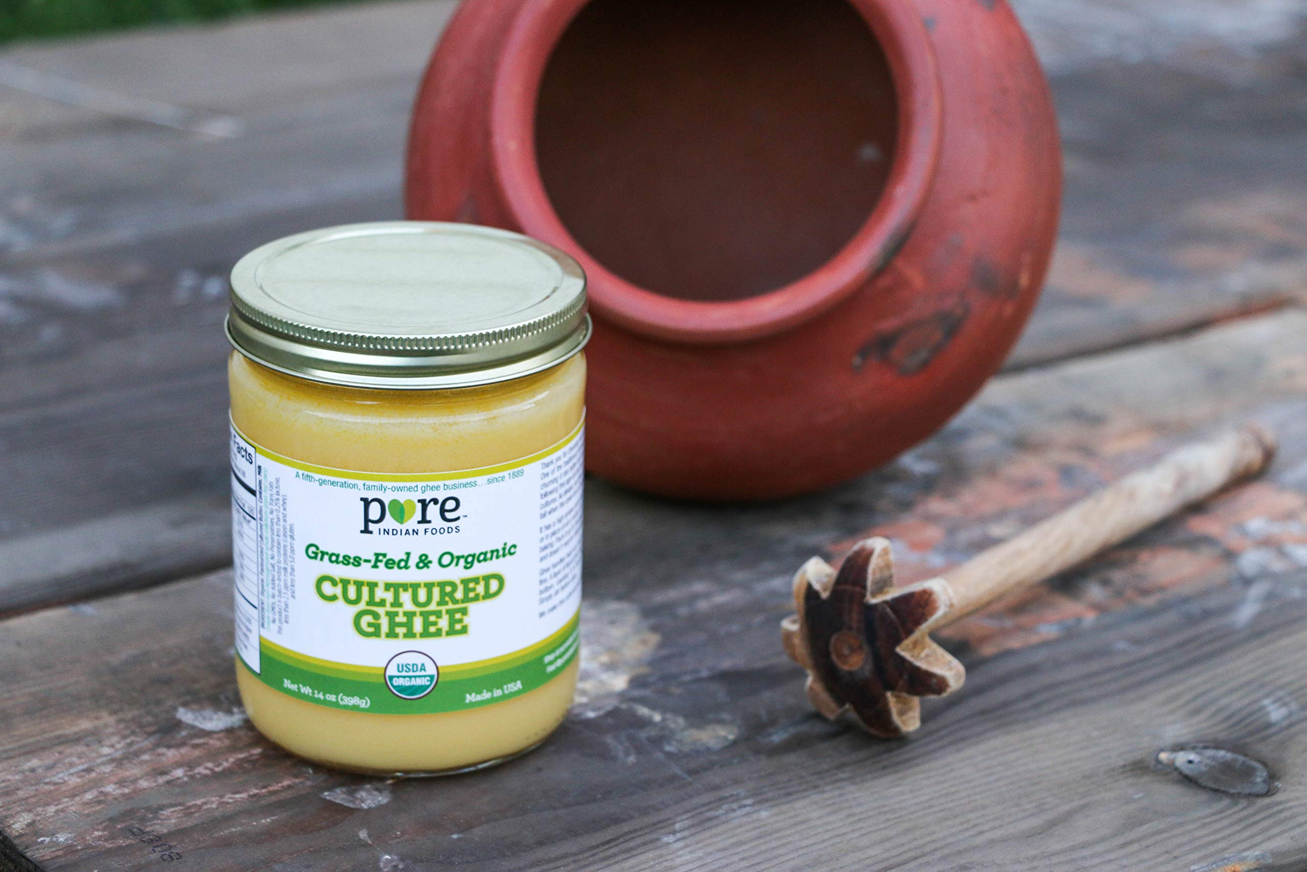 Grassfed Organic Cultured Ghee 14 oz (2-Pack) by Pure Indian Foods (Image #2)