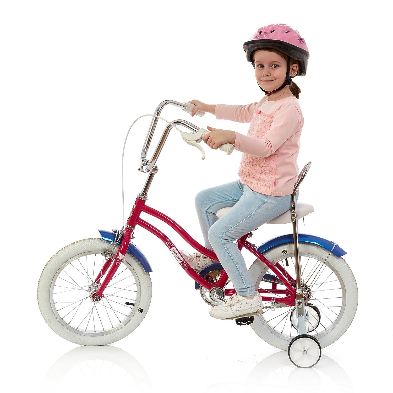Casco Per Bicicletta PER BAMBINI Resistente Polipo Rosa Certificato CE per Sicurezza e Comfort Regolabile per Bambini dai 3 ai 7 anni con Divertenti Disegni Marini per Bambino e Bambina