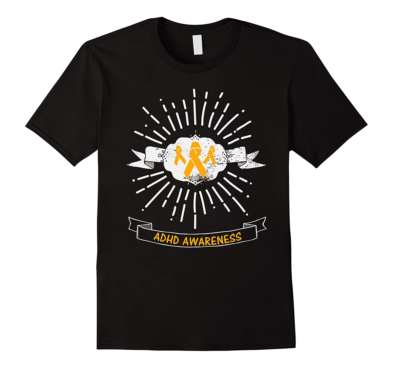 ADHD Awareness Shirt Wear Orange Ribbon October T-Shirt-TH