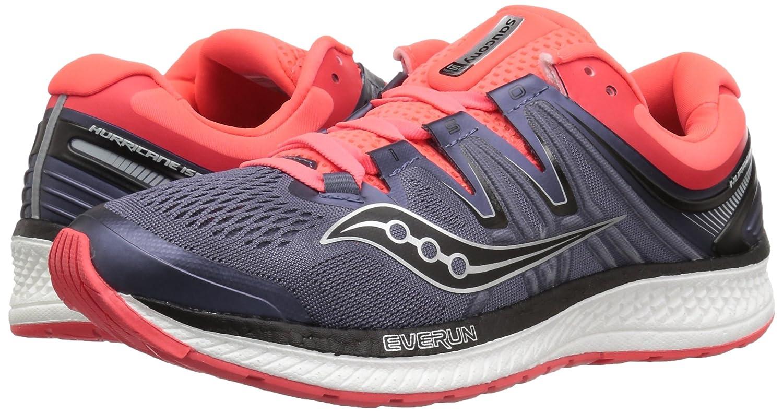 Saucony Women's Hurricane Iso 4 Running Shoe Red B072QFGVLS 5 B(M) US Grey/Black/Vizi Red Shoe 83b5b7