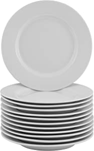 10 Strawberry Street Party Packs Round Appetizer Plates (Set Of 12), White