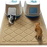 "Easyology JUMBO 47"" x 36"" Cat Litter Mat, Eliminates Odors, Washable, Waterproof, Durable, Soft, Non Toxic"