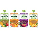 Sprout Organic Baby Food Toddler Veggie Power Pouches Stage 4, Variety Pack, 4 Oz, Pack of 12