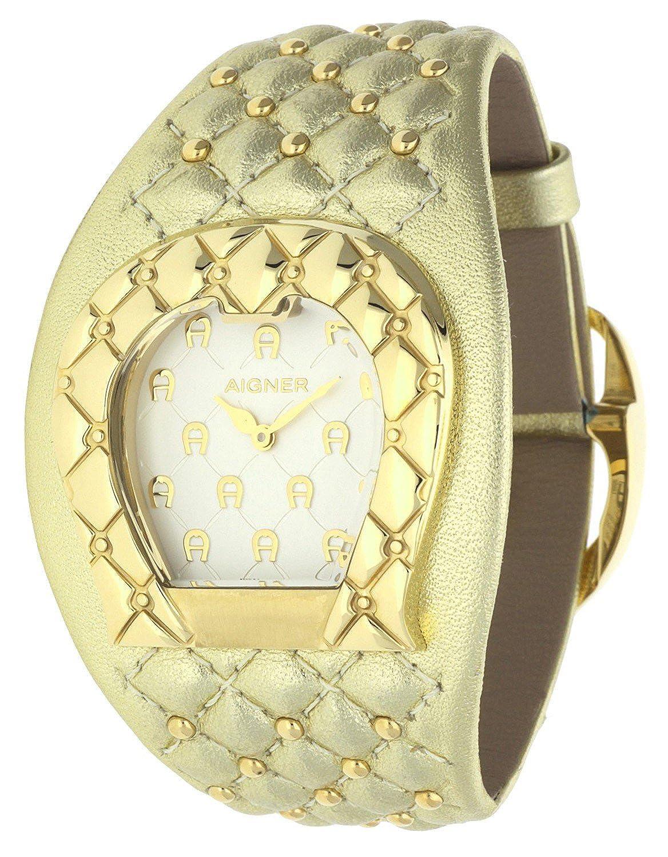 Orig. AIGNER Damenuhr Uhr A41204 LEDER gold Perlen UVP:599 --? NEU 8454