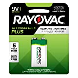 Rayovac Rechargeable 9V Batteries, High Capacity