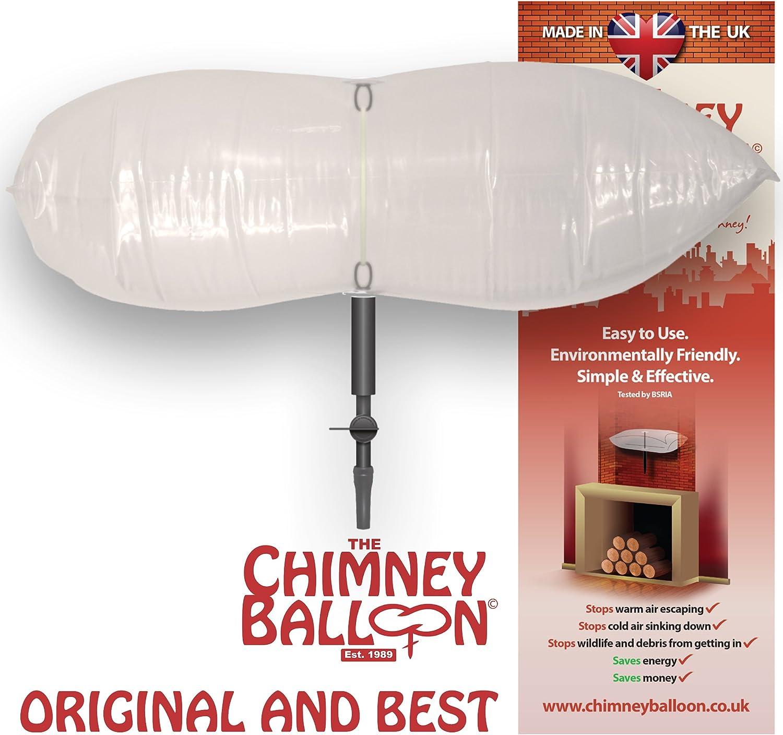 23cm x 23cm Ballonnet de chemin/ée anti-courants dair pour chemin/ée avec gratuit tube de gonflage
