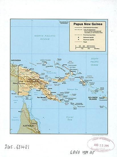 Amazon.com: Map Poster - Papua New Guinea. - 24\
