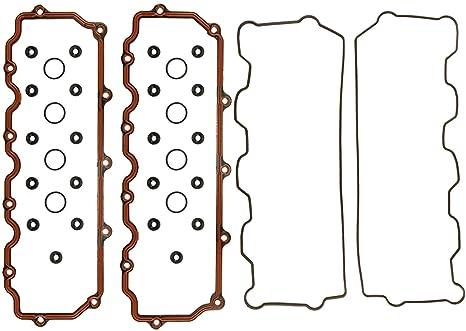 CNS ET79180 Engine Valve Cover Gasket Set Complete Set for Ford E-Series Excursion 6.0L 363cid F-Series OHV V8 PowerStroke Diesel Turbo 03-10
