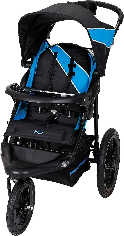عربة أطفال بيبي تريند مناسبة للجري، لون أزرق موزايك – JG95522