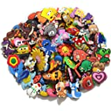 joytime shoecharm Lot of 50 Mixed PVC Different Shoe Charms for Croc & Jibbitz Bands Bracelet Wristband