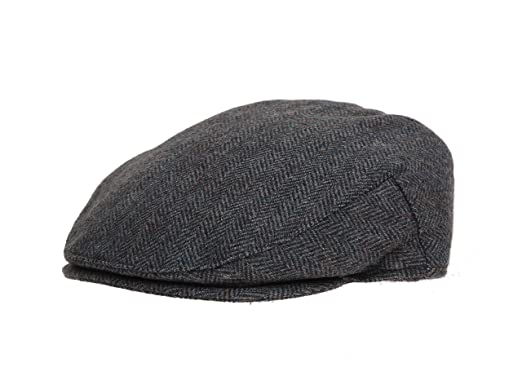 0eb99224818 Image Unavailable. Image not available for. Colour  The Hat Outlet Men s  Green Wool Tweed Herringbone Flat ...