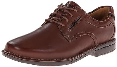 CLARKS Men's Un.corner Plain Oxford, Brown Leather, ...