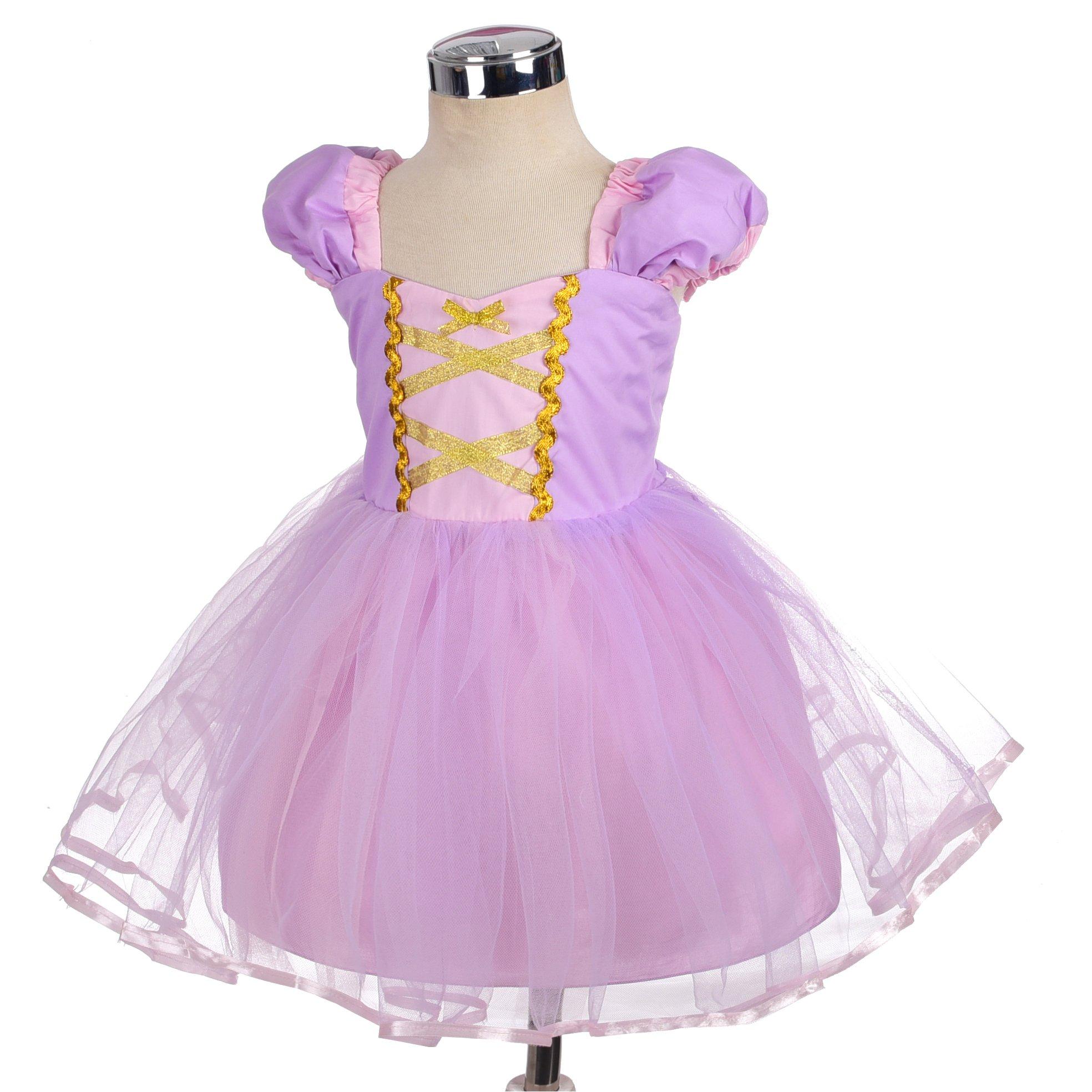 Dressy Daisy Girls Princess Rapunzel Dress Costumes for Toddler Girls Halloween Fancy Party Dress Size 4T by Dressy Daisy (Image #3)