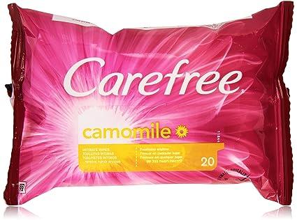 Carefree - Toallitas Intimas Camomila, 20 unidades