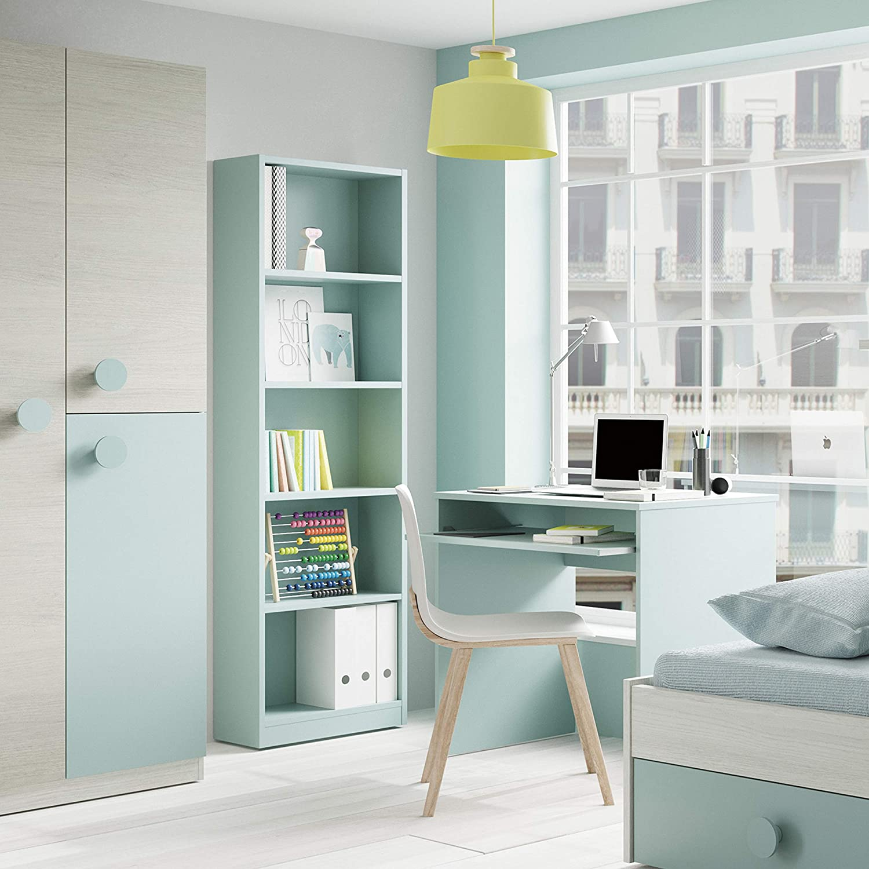 Habitdesign 005422J - Estantería Juvenil Dormitorio 6 baldas ...
