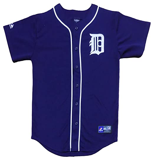 new arrival 611ca e7ead Amazon.com: Detroit Tigers Blank Navy Blue Youth Authentic ...
