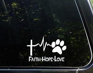Diamond Graphics Faith Hope Love Dog Paw (6