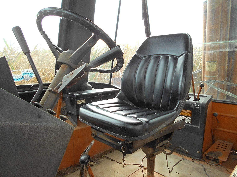 High Back Black Seat for Case Backhoe Loader 580C, 580D, 580E, 580L, 580M Skid Steer Loaders