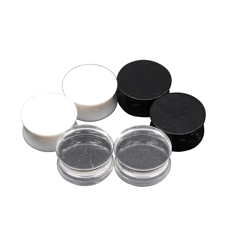 BodyPJ Sparkles 3Pair-Mix Color Acrylic Ear Plug Expanders UV Ear Gauges Piercing Jewelry 1 25mm BIMO