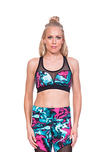 e27a93b9fa Image Unavailable. Image not available for. Color  TLF Havoc Sports Bra -  Marbleized Print - Medium