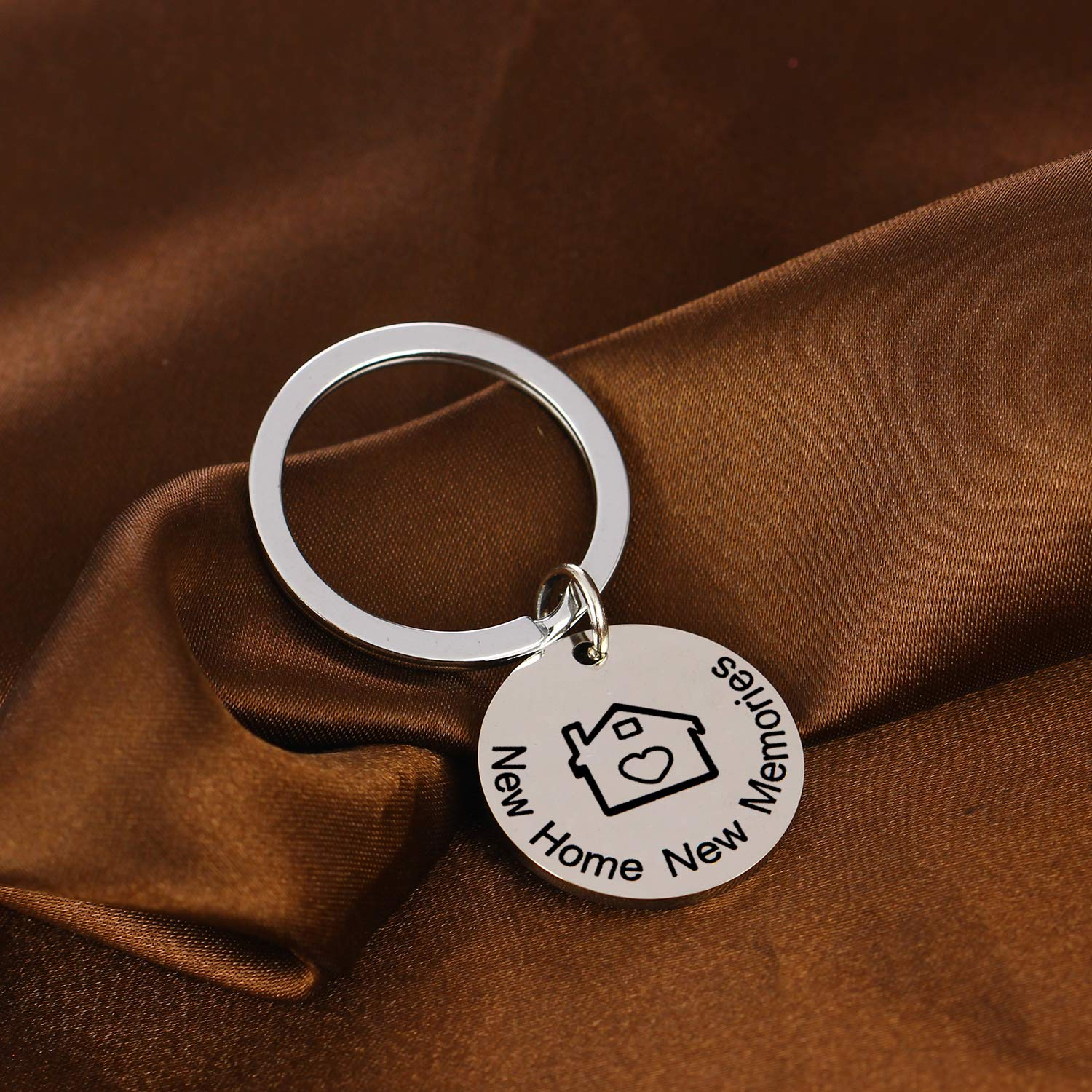 New Home Keychain New Memories Keychain First Home Gift Housewarming Gift Realtor Closing Jewelry Key Chain Gifts