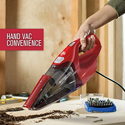Dirt Devil Scorpion Handheld Vacuum Cleaner, Corded, Small, Dry Hand Held Vac With Cord, Red, SD20005RED (Design Might Vary)