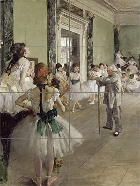 8 Sections Edgar Degas The Ballet Class XL Giant Panel Poster