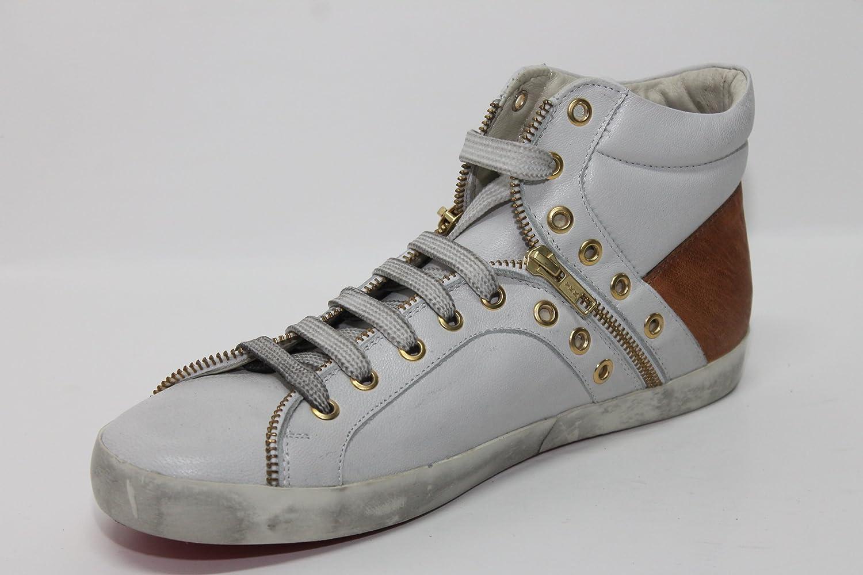 Sneaker baby bill bianco e cuoio 46 EU