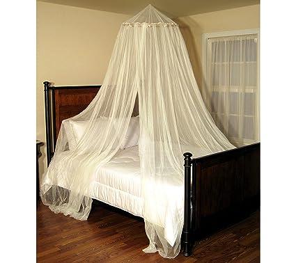 Image Unavailable  sc 1 st  Amazon.com & Amazon.com: Casablanca Oasis Round Hoop Sheer Bed Canopy Net; Ecru ...