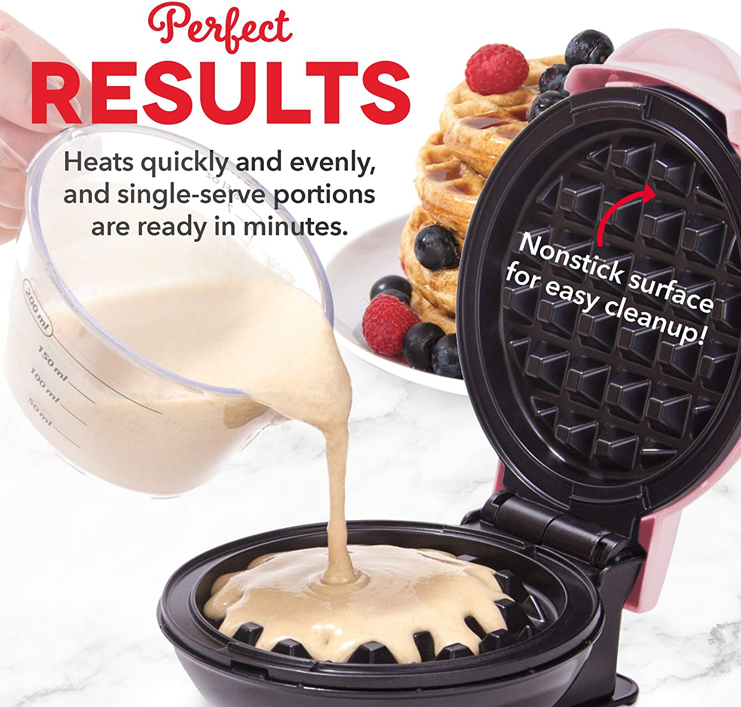 Paninis Aqua or Snacks Lunch Hash browns /& other on the go Breakfast Dash Mini Maker: The Mini Waffle Maker Machine for Individual Waffles