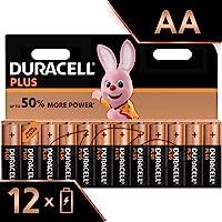 Duracell Plus AA Alkaline Batteries, 1.5 V LR06 MX1500, Pack of 12