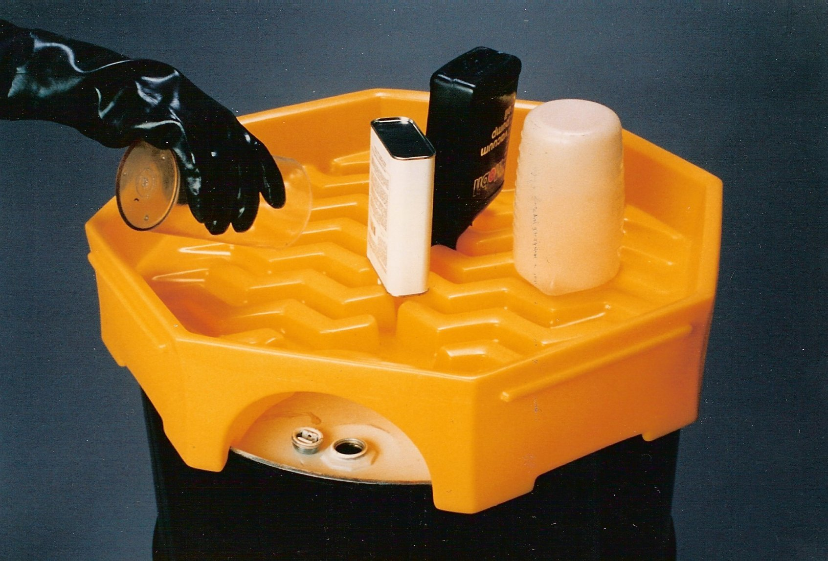 UltraTech 0488 Plastic Bung Access Ultra-Drum Funnel without Spout, 6 Gallon Capacity, 23-5/8'' OD x 5-1/2'' Height, Yellow