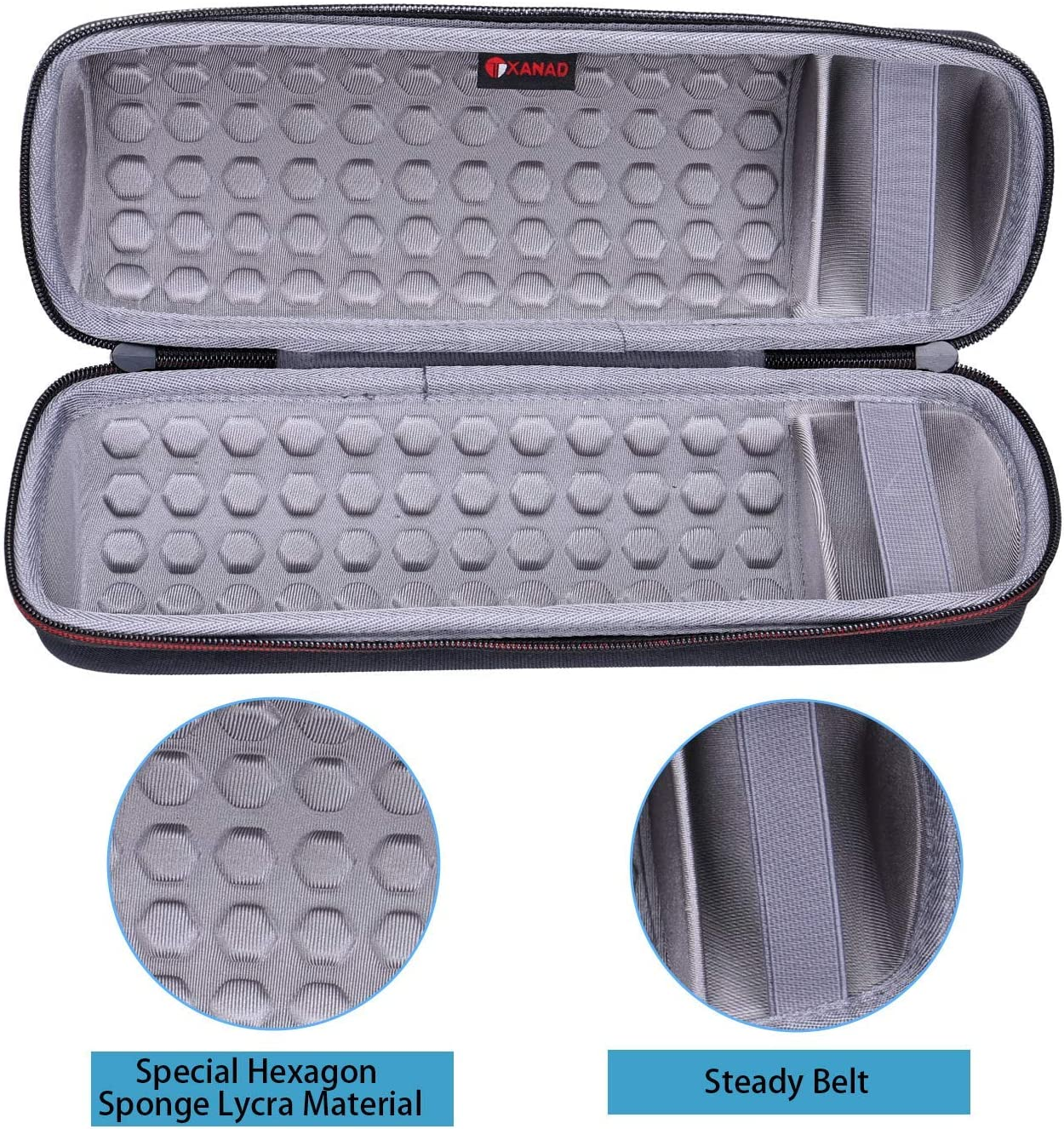 Gray XANAD Hard Case Travel Carrying bag for Ultimate Ears Boom 3 Speaker