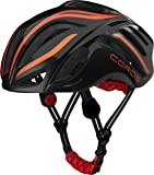 COROS LINX SMART CONNECTED BLUETOOTH HELMET IN BLACK AND ORANGE WITH BONE CONDUCTION TECHNOLOGY