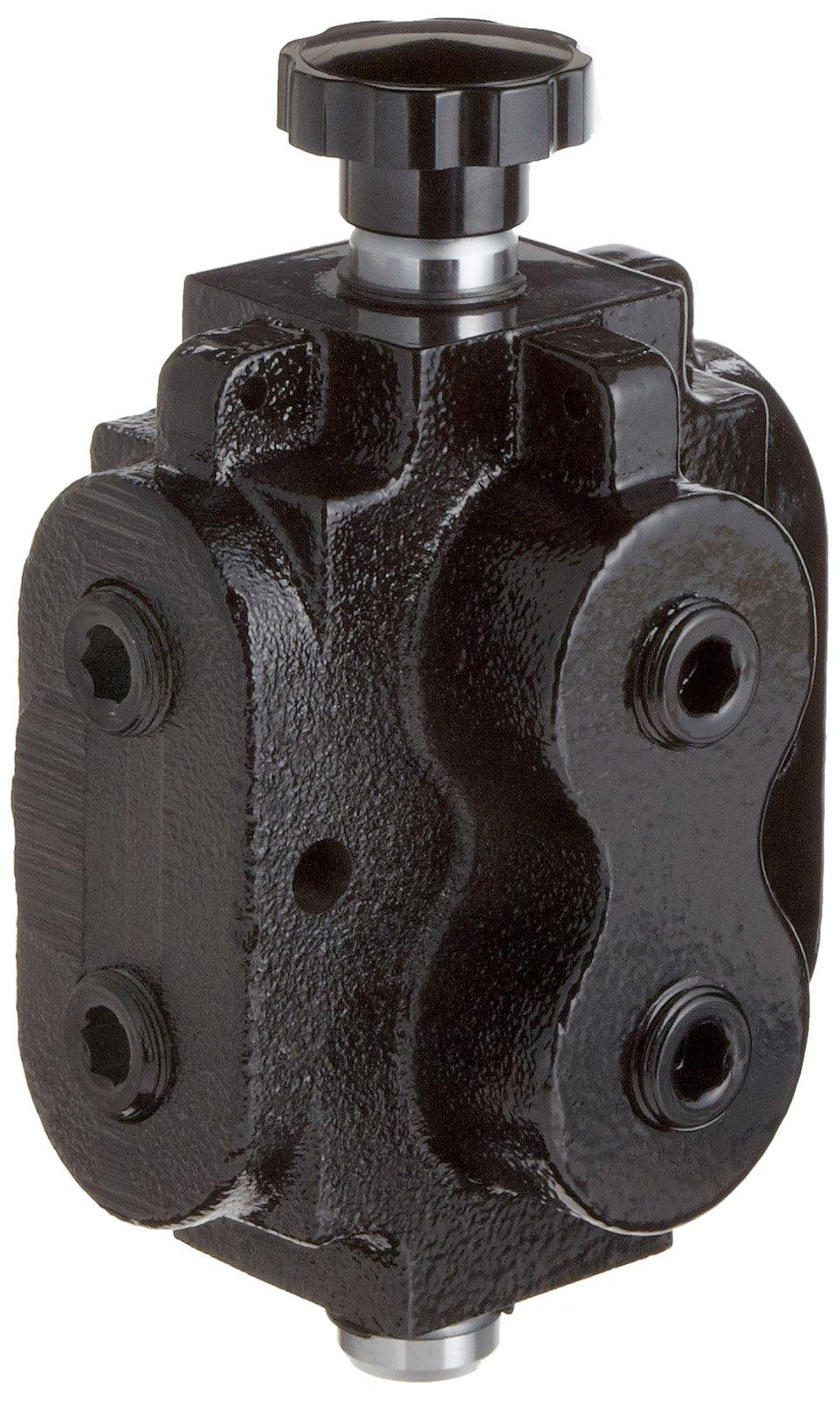 Prince DS-1A1D Directional Control Valve, Monoblock, Cast Iron, 1 Spool, 6 Ways, 2 Positions, Knob Handle, 2500 psi, 40 gpm, 1/2'' NPT Female