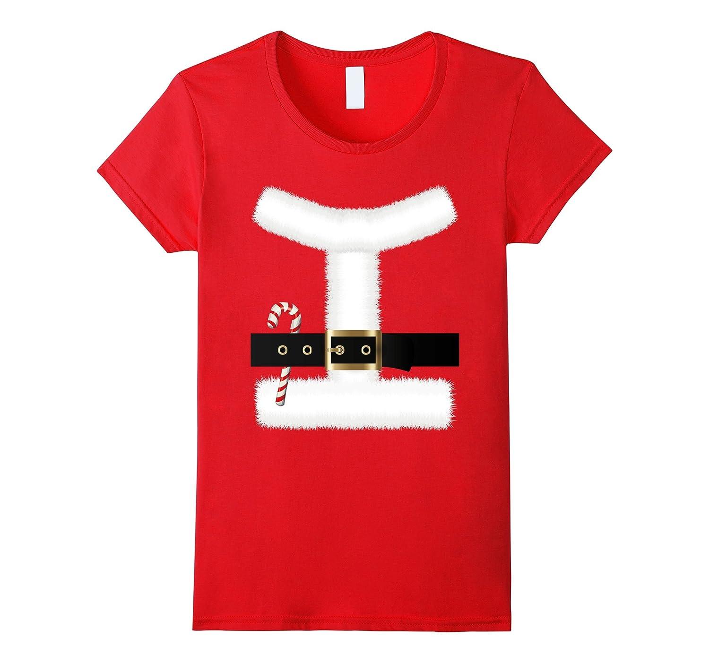 Santa Claus Suit Costume Christmas T-Shirt Belt Unisex 2018