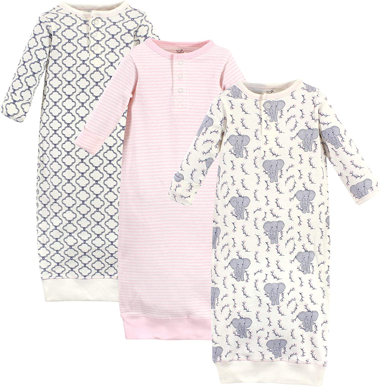 Touched by Nature Baby Organic Cotton Henley Gowns