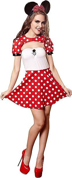 YiYiFS Mujer Dibujos Animados Mickey Mouse de Cosplay traje ...