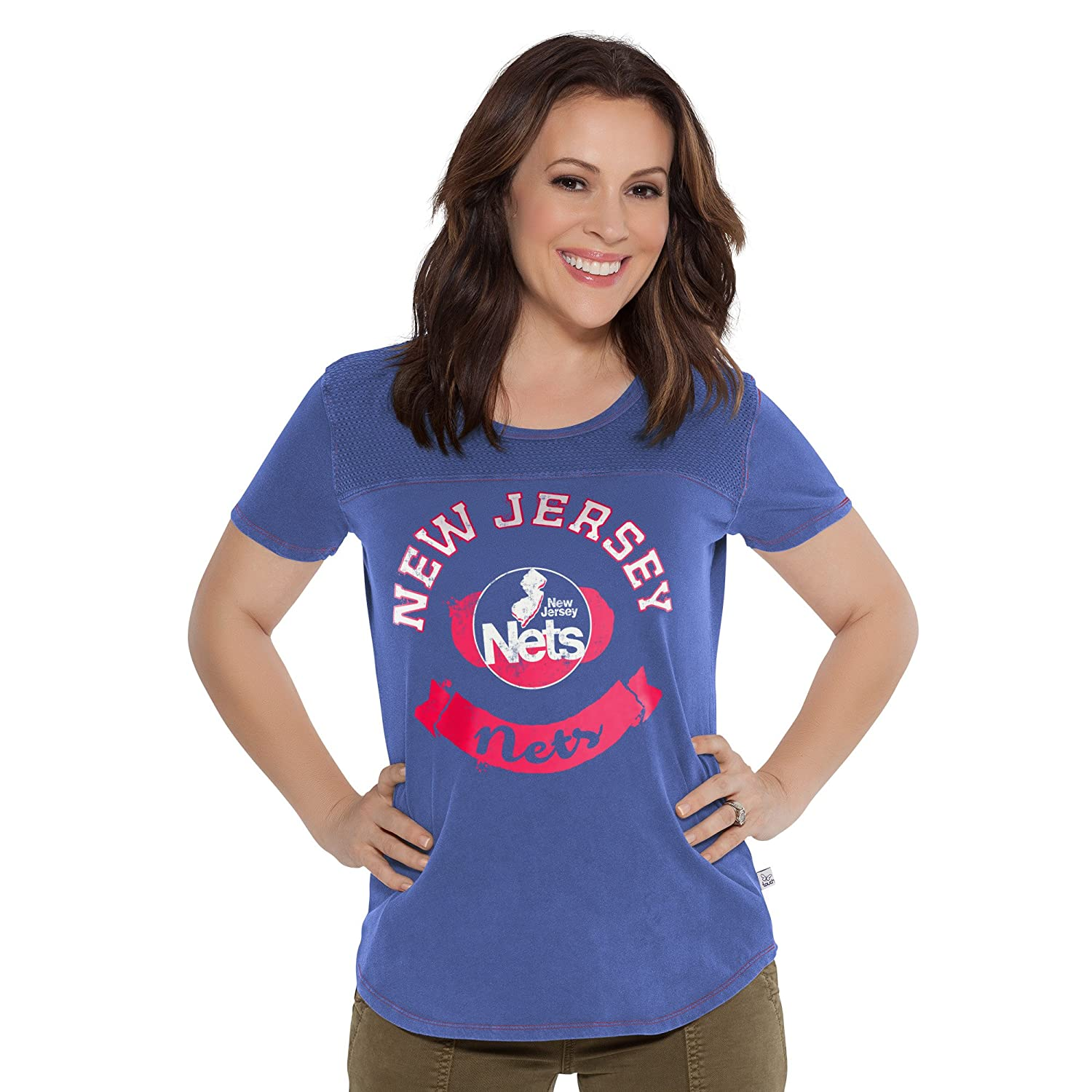 X-Large Touch by Alyssa Milano NBA New Jersey Nets Gridiron Tee Royal
