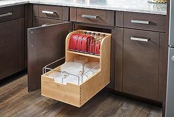 Rev A Shelf 4FSCO 18SC 1 Food Storage Container Organizer, Natural