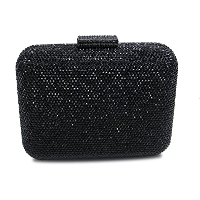 a86ee3ab8d DMIX Women Square Crystal Clutch Bag and Evening Bags Black ...