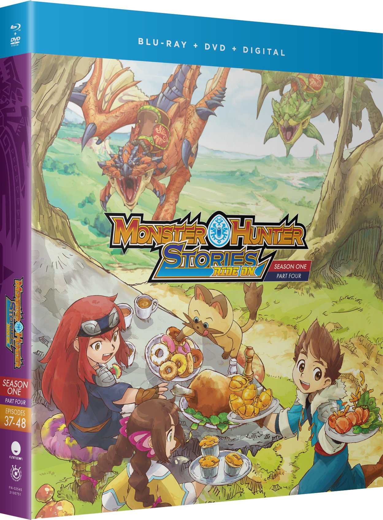 Blu-ray : Monster Hunter Stories Ride On: Season One Part Four (With DVD, Boxed Set, Standard Edition, Uncut, Subtitled)